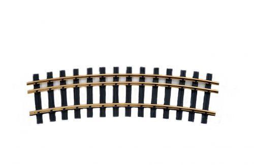 Schraubverb Zenner Bausatz 1 gebog Spur 2+G Dreischienengleis R=90cm 22,5°