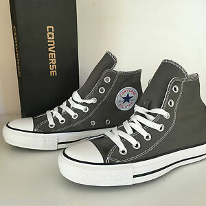 Converse SCARPE All Star Shoes Alta Uomo Donna Unisex new 2016 Chuck Taylor grey