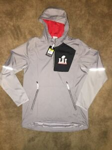 huge selection of 59422 3fa2f Details about Nike Super Bowl 51 LI Fly Rush 1/4 Zip Jacket NWT Size Small  S Patriots Falcons