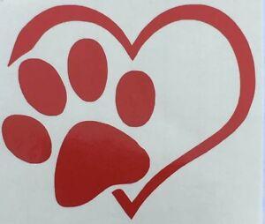 Dog Cat Pet Puppy Love Wall Decor Car Window Heart Paw Sticker Vinyl Decal