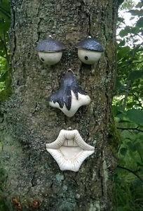 Neu Garten Baum Gesicht Neuheit Dekoration Lustig Mauer Zaun