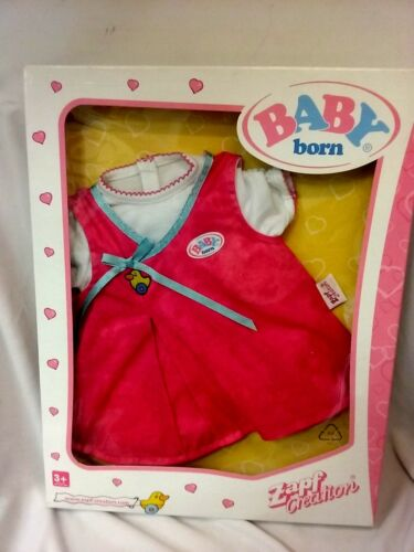 ZAPF CREATION BABY BORN FASHION SET BRAND NEW PINK WITH A DACK DRESS CLOTHES