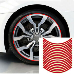 Details about Car Accessories Car Stickers Red Trim Strips Motorcycle  Decals Tyre Decoration