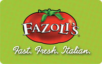 $25 / $30 / $40 / $50 Fazoli's Gift Card - FREE Mail Delivery