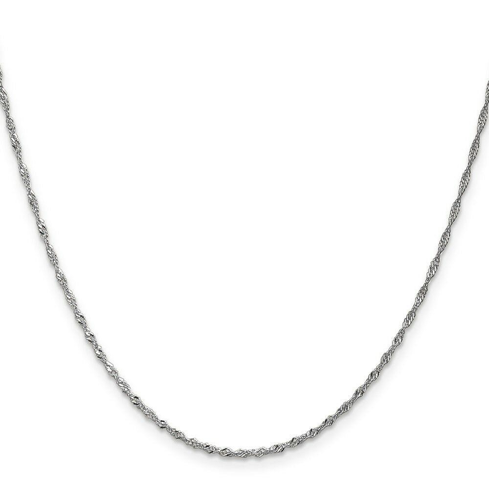 Genuine 14k White gold 1.4mm Singapore Chain  Anklet 10 inches 0.95gr