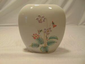 "Vintage 4"" Otagiri Hand Painted Porcelain Bouquet Vase Made Japan Floral Design"