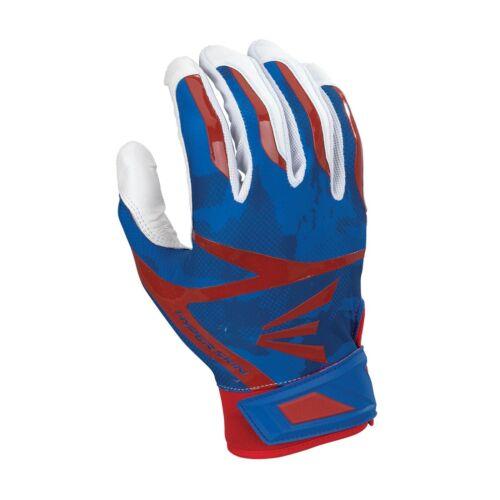 Adult Easton Z7 Hyperskin Softball Baseball Batting Gloves Blue Red White Camo