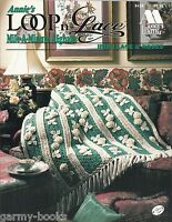Loop N Lace Mile A Minute Afghans Irish Lace & Roses Crochet Pattern Annie's
