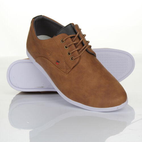 Mens New Casual Black Brown Faux Leather Smart Formal Lace Up Shoes UK SIZE 7-12