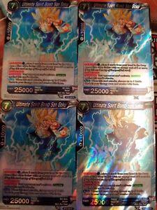 BT3-034 R Ultimate Spirit Bomb Son Goku Rare Dragon Ball Super Card Game