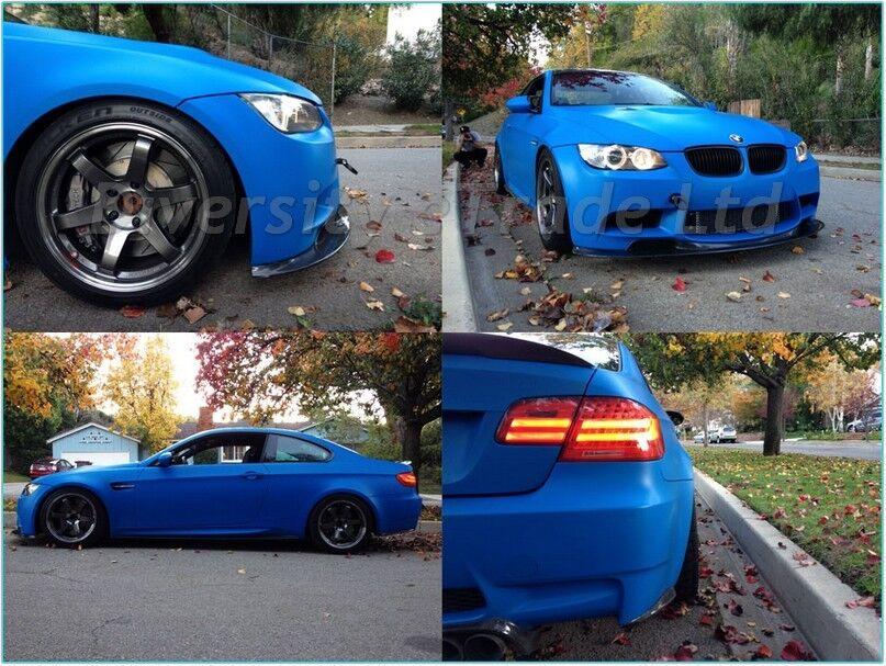 Matte Blue Car >> Details About Matte Matt Finish Royal Blue Car Vinyl Wrap Various Sizes Air Bubble Free