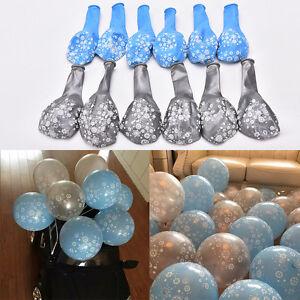 10Pc-Gele-Flocon-De-Neige-Imprime-Latex-Ballons-Argent-Bleu-Pour-Enfants-Fete-D-039-Anniversaire