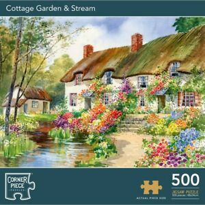Cottage Garden & Stream 500 Piece Jigsaw Puzzle, Toys & Games, Brand New