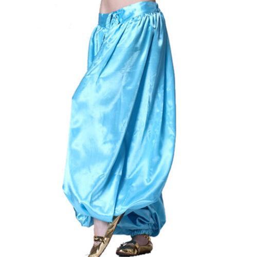 US2 Women Satin Harem Yoga Pant  Belly Dance Costume Satin Fancy Pants Plus size