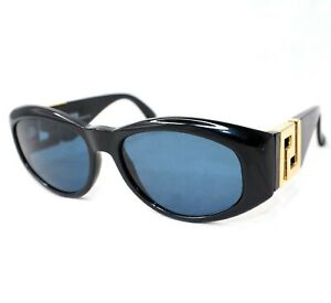 GIANNI-VERSACE-Sunglasses-T24-852-black-gray-gold-medusa-head-baroque-vintage