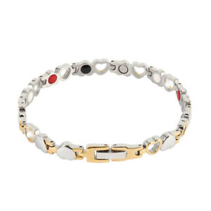 Ladies-Silver-Magnetic-Healing-Bracelet-Bangle-Arthritis-Pain-Relief-Health-UK