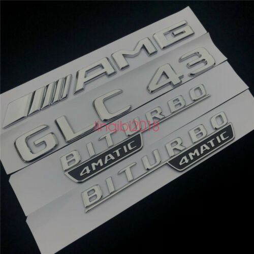 2018 GLC 43 AMG BITURBO 4 MATIC Trunk Emblem Badge Sticker for Mercedes Benz