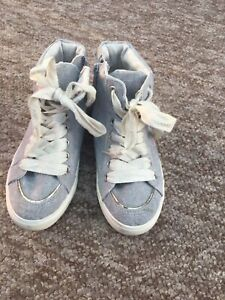 New Next Girls Converse Style Ankle Hi Top Trainer Boot Size 11  9443f92d7