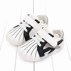 Baby Infant Toddler Flat Slip-on Soft Sole Faux Leather Pre-Walkers Casual Shoes