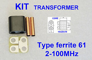 Ferrite core 61Transformer KIT Amplifier RD16HHF1 2SC2290 IRF510 SC1969 C1969