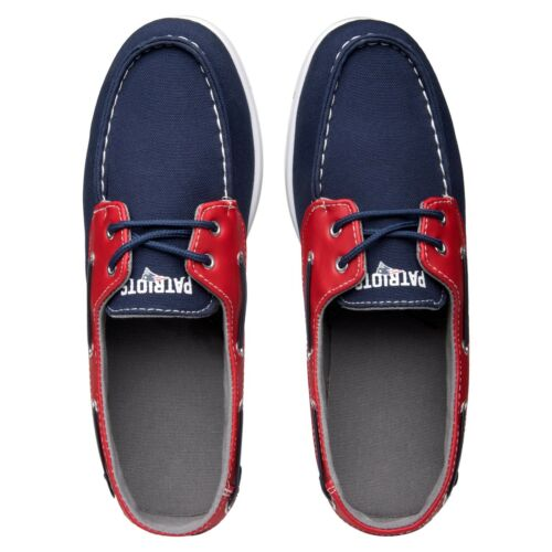 New England Patriots Side Logo Team Color Boat Casual Shoes Slip On Men/'s Sizing