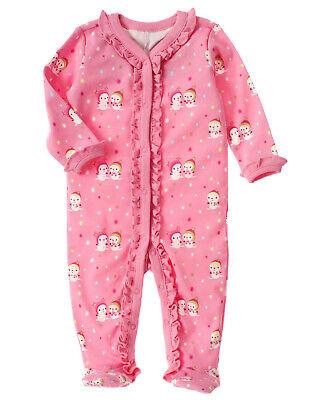 NWT Gymboree Ice Cream Short Sleeve Footed Sleeper Baby Girl Newborn Essentials