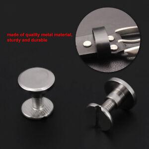 20pcs-Set-Screwback-Stud-Screws-Flat-Head-Solid-Brass-Rivets-Button-DIY-Leather