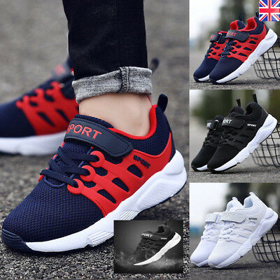 BOYS GIRLS SPORT KIDS RUNNING CHILDREN LACE UP SCHOOL SKATE TRAINERS SHOES SIZE