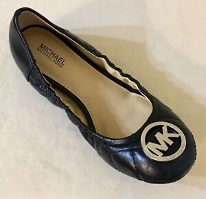 4e50aa9f3c52 Women MK Michael Kors Fulton Quilted Ballet Shoe MK Logo Detail ...