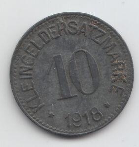 WWI-Notgeld-coin-token-Germany-Hof-zinc-10-Pfennig-1918-L206-2