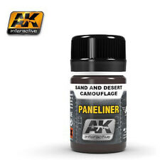 Ak Interactive AKI 2073 - Air Series: Panel Liner Sand & Desert Camouflage Paint