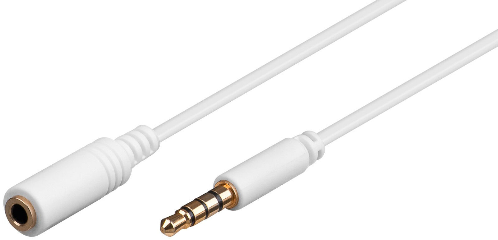 Extension Cable 3,5mm Jack Plug Stereo 4 Pin For Headphones Cables