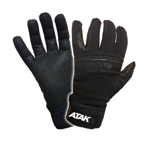 Atak Equus Equestrian Gloves Junior 67 Years Size 4 Black 12105