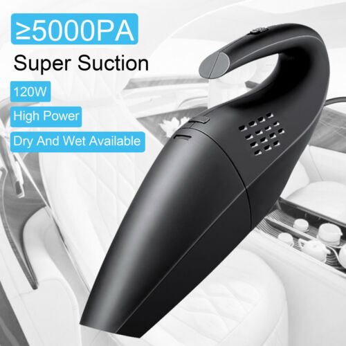 Wireless Car Vacuum Cleaner Auto Mini Handheld Wet Dry Rechargeable Home #Oo