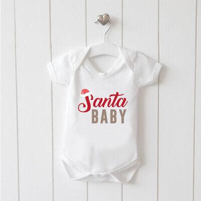 Prezzo Più Basso Con Santa Baby-gilet Baby Grow 100% Cotone Ragazzi Ragazze Body Carino Stile 3-mostra Il Titolo Originale