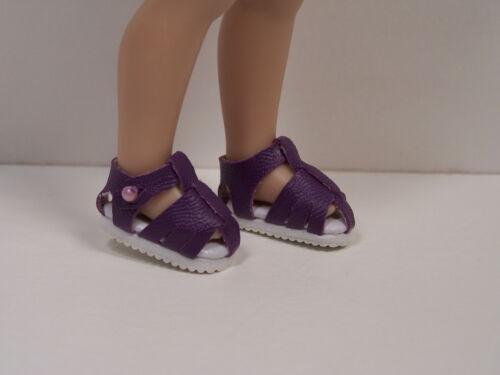 PURPLE Fisherman Sandals Doll Shoes For Helen Kish DJ /& Riley Debs
