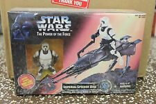 Star Wars Power of The Force Imperial Speeder Bike With Biker Scout Action
