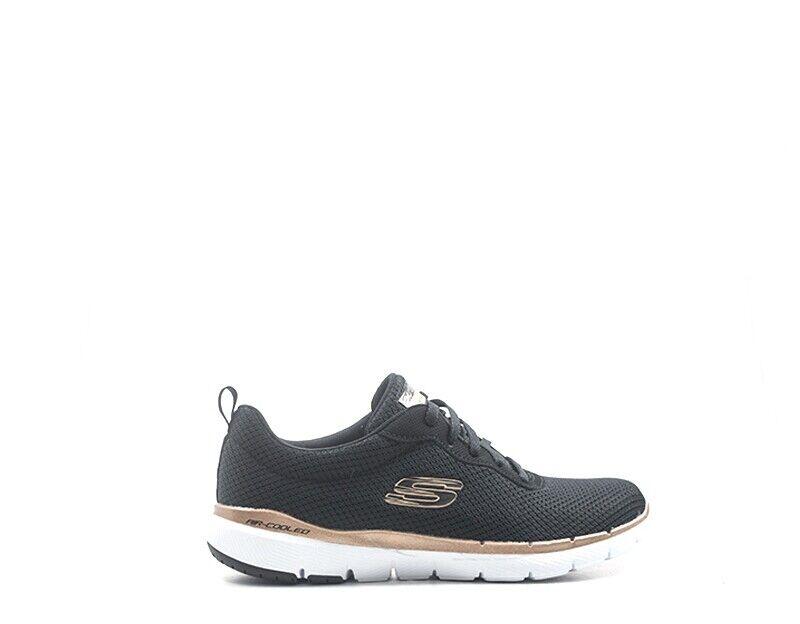 Chaussures SKECHERS SPORT Femme noir Tissu 13070-BKRG