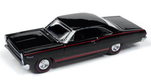 1966 Mercury Comet Cyclone GT-Gloss Black Auto World Muscle 1:64 Neuf dans sa boîte RR