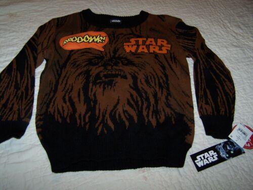 "10//12 L//G ~Star Wars~/""Wookie/""~Sweater~/""Roars With Wookie Sound chip/""~NWT~SW9"