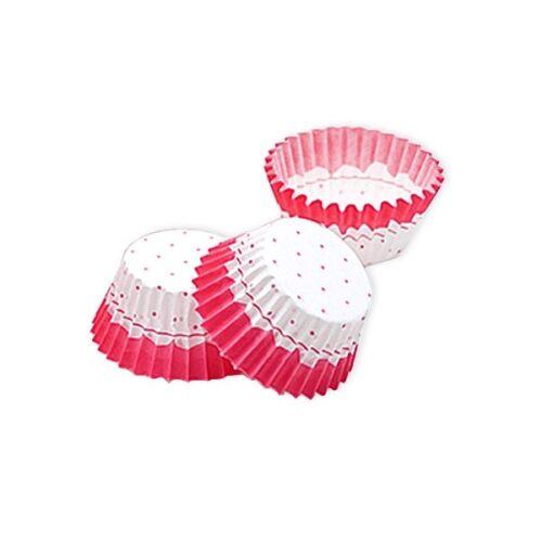 Mini Muffin-Förmchen,rosa gepunktet Babyparty Babyshower Mädchen-Geburtstag
