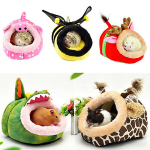 Details About Warm Small Animal Bed Pet Hammock Hamster Rat Guinea Pig House Nest Pad Cage Uk