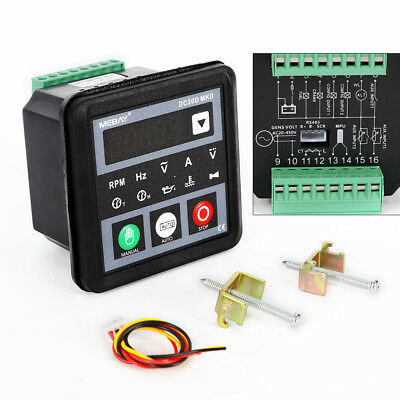 DC20D MKII Genset Controller Upgrade for Diesel/Gasoline Engine  Generator+Cable | eBay