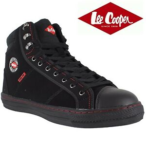 Mens Lee Cooper Steel Toe Cap Safety Trainer Work Shoe Boots Casual LC008 Black