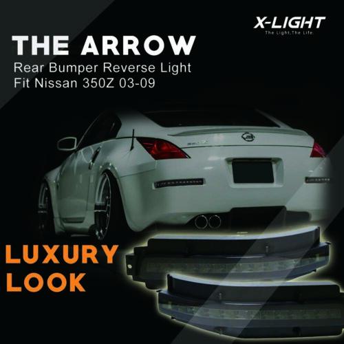 Smoked Lens LED Turn Light Brake Light Back Up light For 03-09 Nissan Z33 350Z