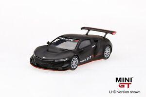 Mini-GT-1-64-Honda-NSX-GT3-Matte-Black-Presentation-Diecast-Model-Car-MGT00025