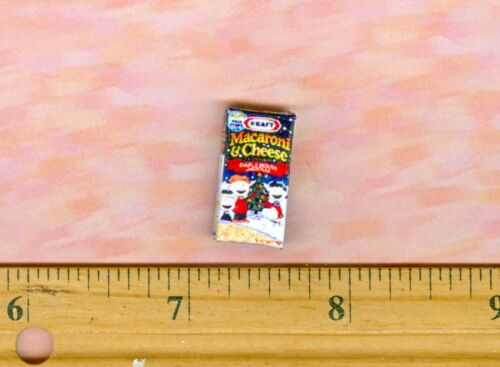 DOLLHOUSE MINIATURE  Size Mac n Cheese Mix Box With Cartoon Characters
