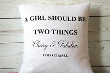 """Coco Chanel Quote Classy - 16"""" cushion cover French shabby vintage chic"""