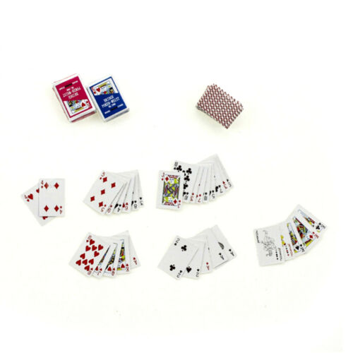 1Set 1:6//1:12 Dollhouse Miniaturen Zubehör Spielkarten Poker Home Bar Dekor  ^