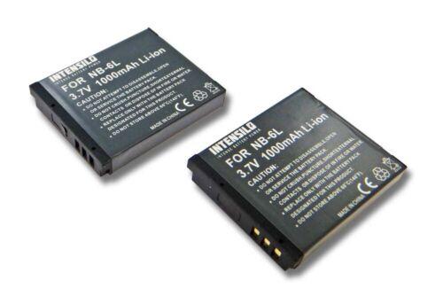 para Canon PowerShot sx280 hs sx260 hs nb-6l Bateria 2 unidades1000mahintensilo